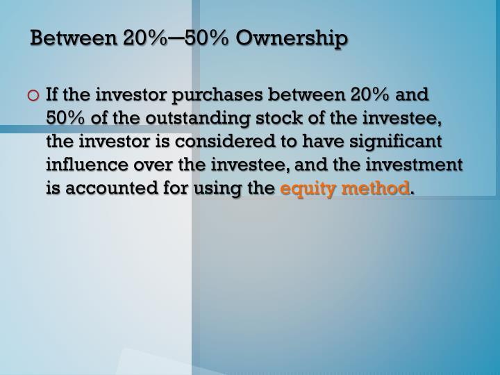 Between 20%─50% Ownership