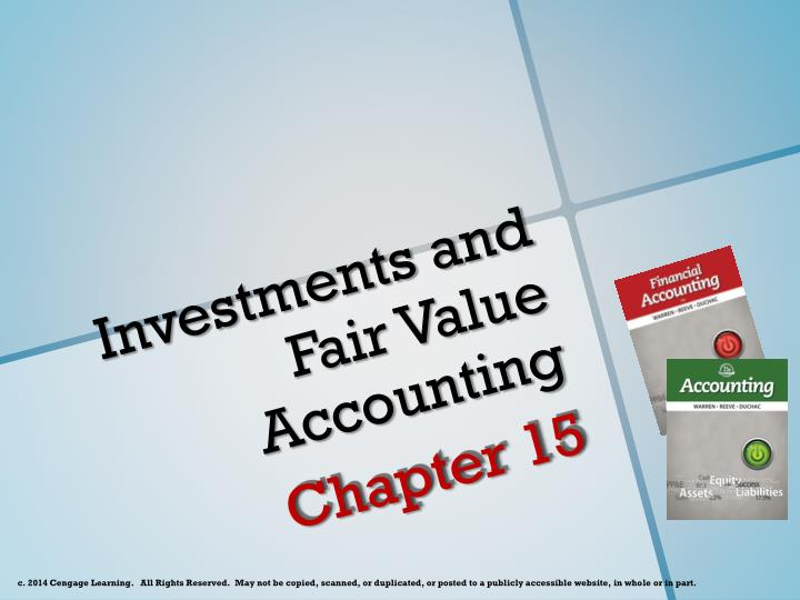 Investments and fair value accounting