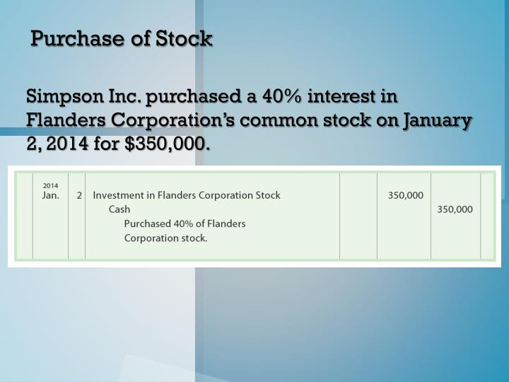 Purchase of Stock
