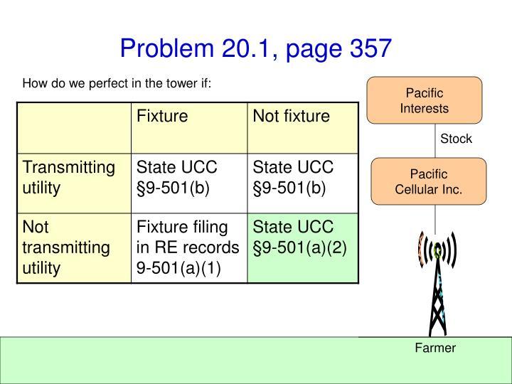 Problem 20.1, page 357