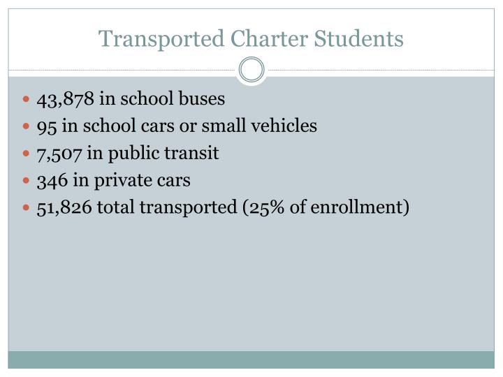 Transported Charter Students