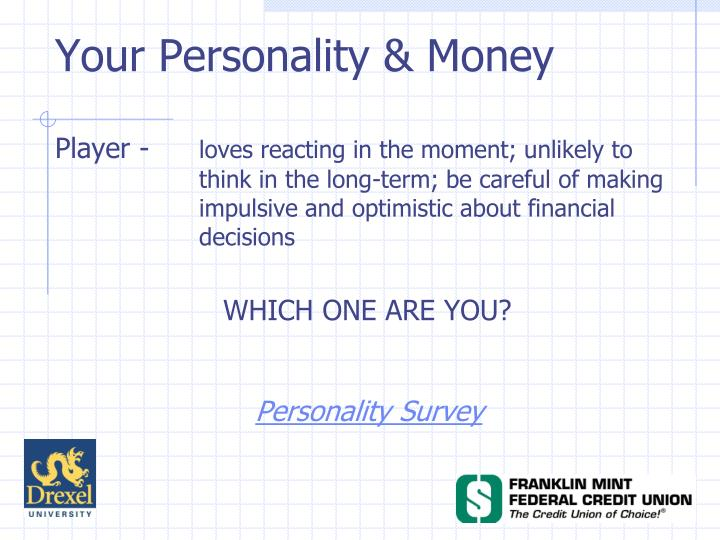 Your Personality & Money