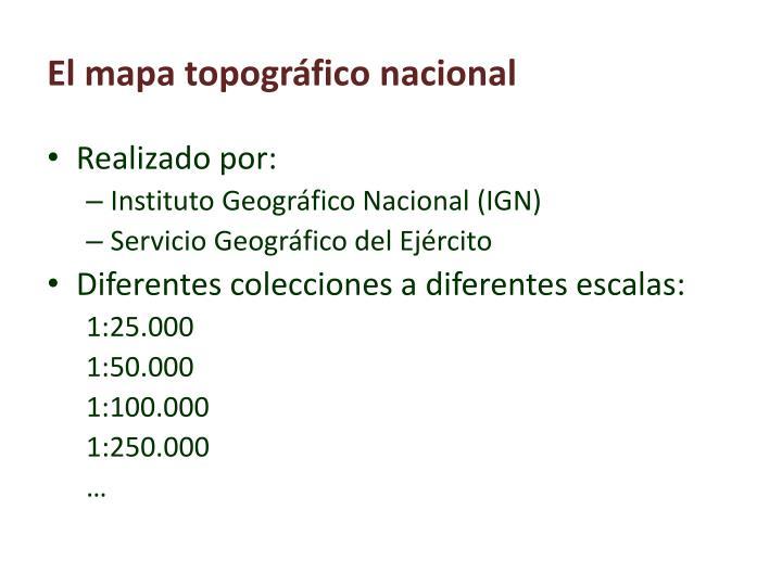El mapa topográfico nacional
