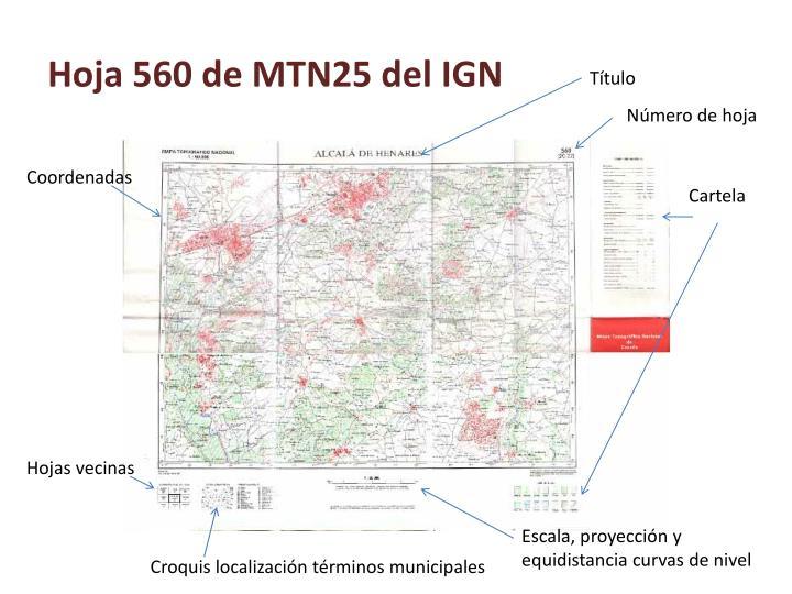 Hoja 560 de MTN25 del IGN