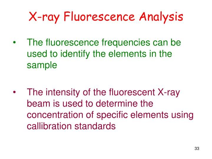 X-ray Fluorescence Analysis