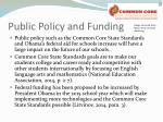 public policy and funding