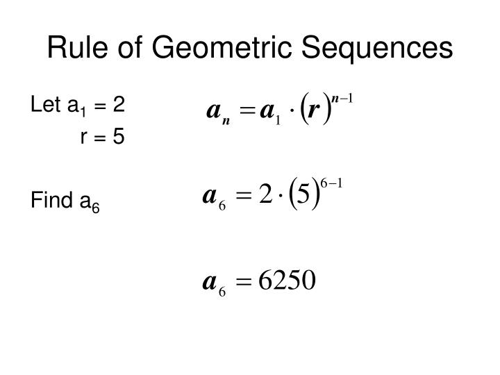 Rule of geometric sequences
