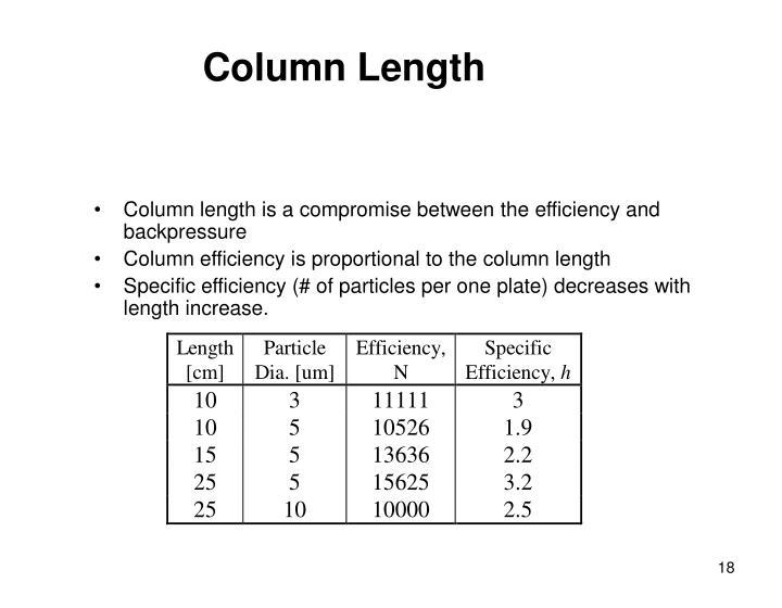 Column Length