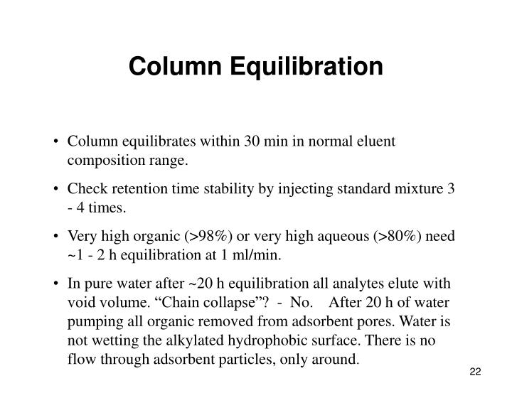 Column Equilibration