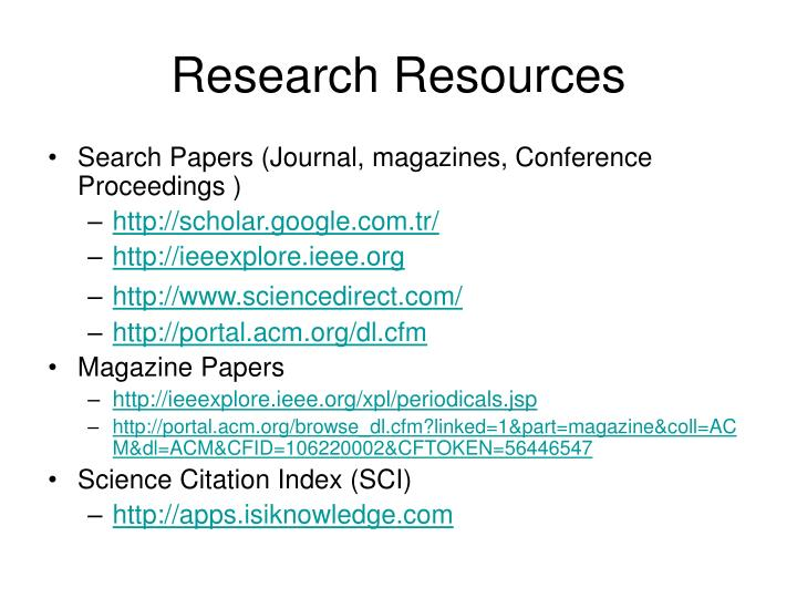 Research resources1