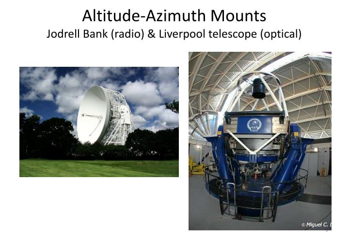 Altitude-Azimuth Mounts