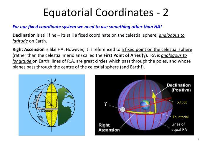 Equatorial Coordinates - 2