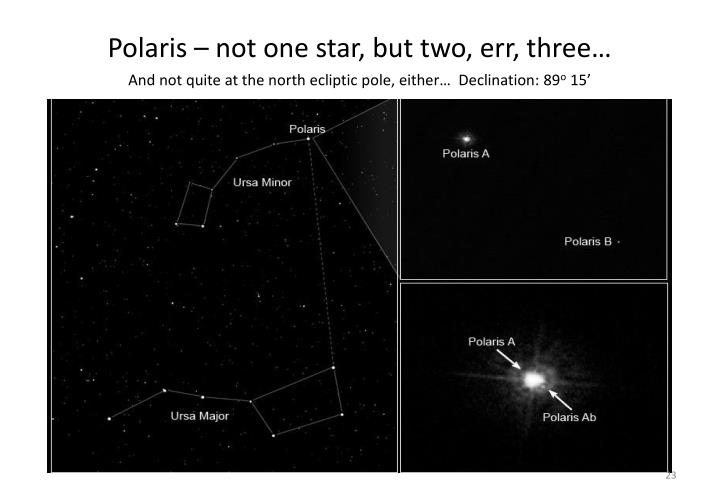 Polaris – not one star, but two, err, three…