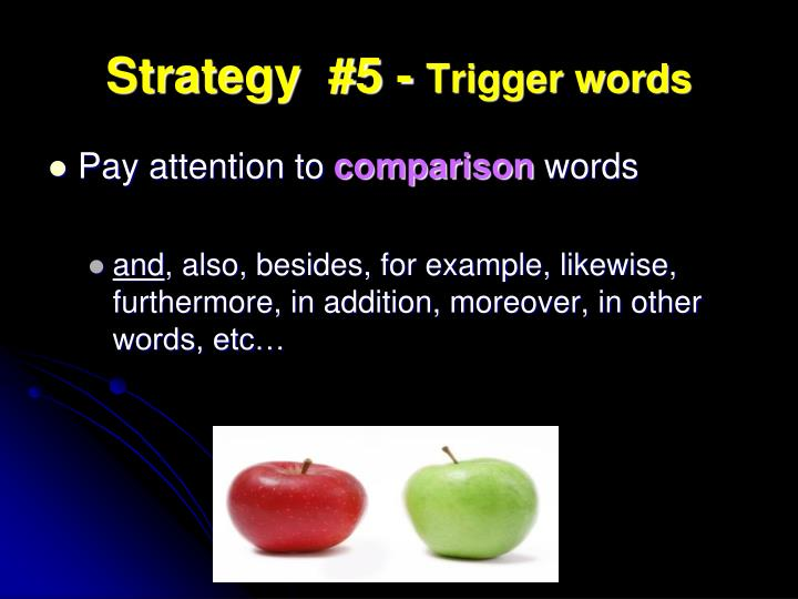 Strategy  #5 -