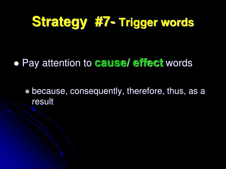 Strategy  #7-