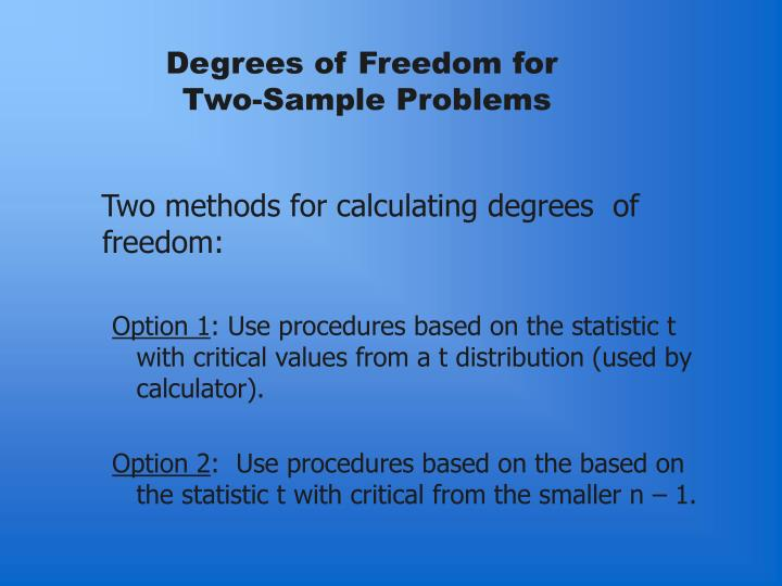 Degrees of Freedom for