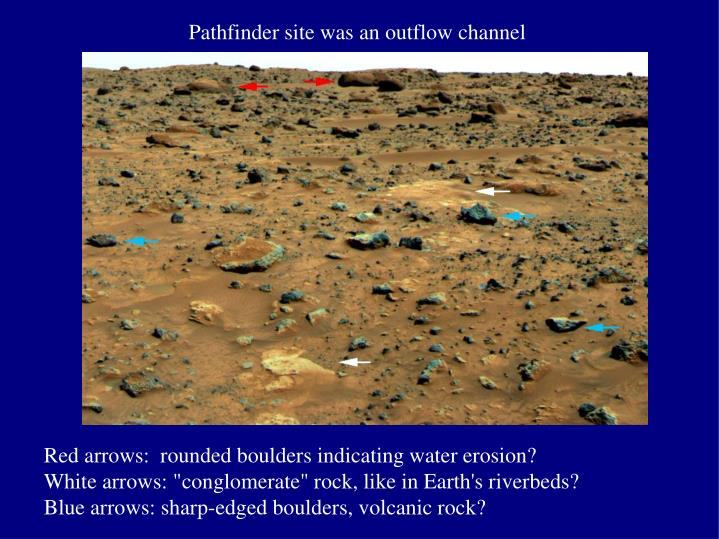 Pathfinder site was an outflow channel