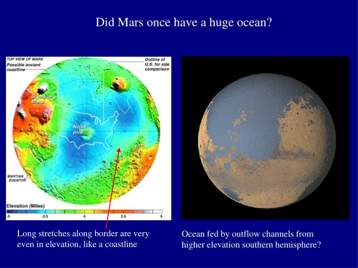 Did Mars once have a huge ocean?