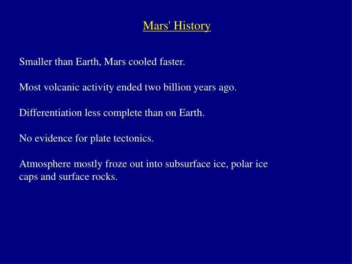 Mars' History