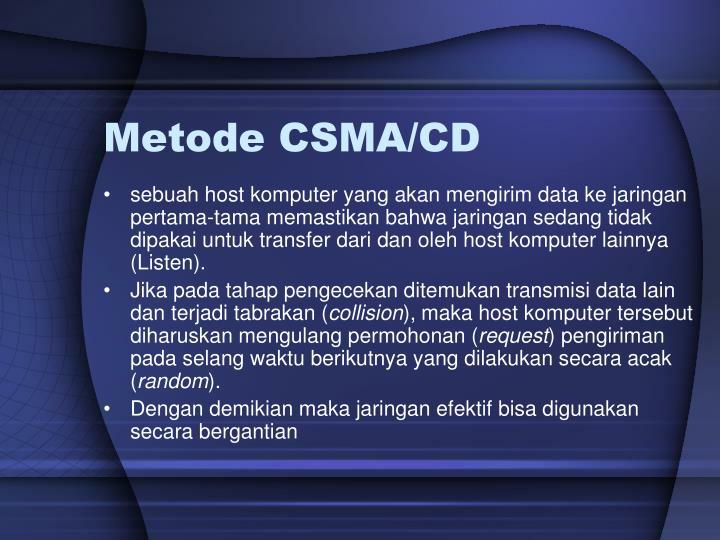 Metode CSMA/CD