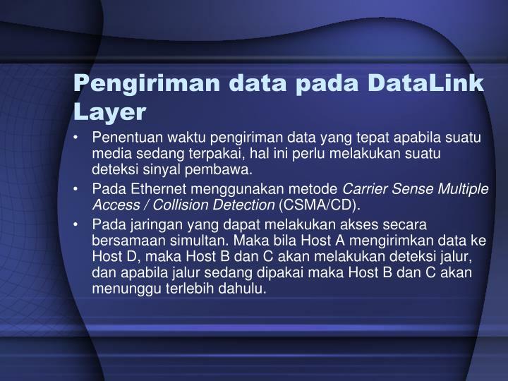 Pengiriman data pada DataLink Layer
