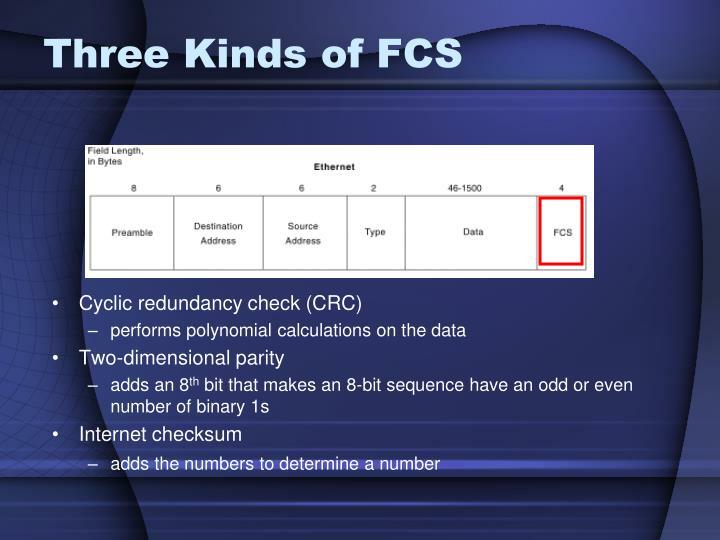 Three Kinds of FCS