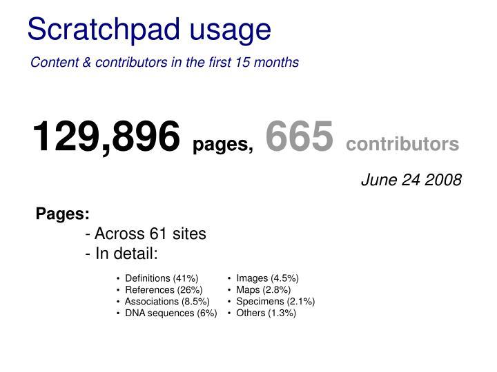 Scratchpad usage