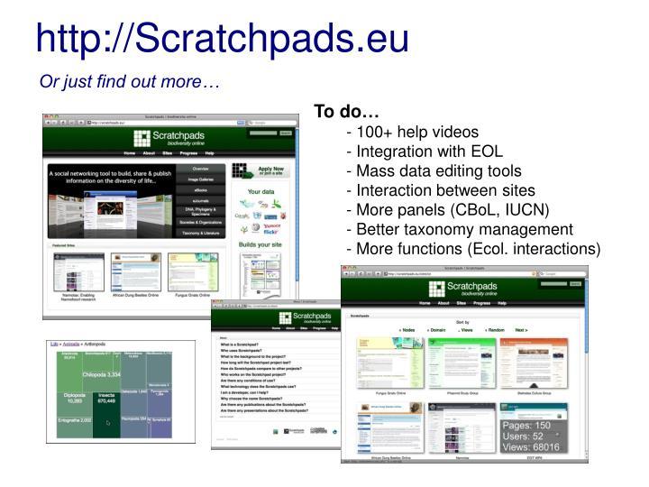 http://Scratchpads.eu