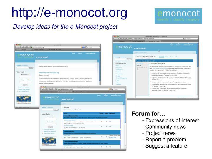 http://e-monocot.org
