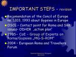 important steps revision