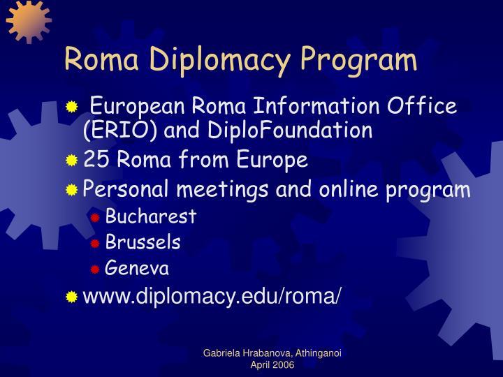 Roma Diplomacy Program