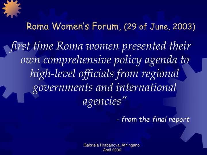 Roma Women's Forum,