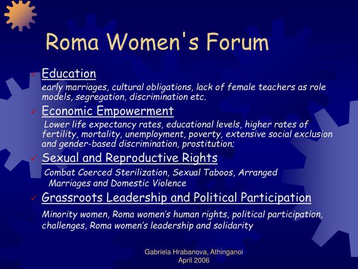 Roma Women's Forum