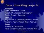 some interesting projects