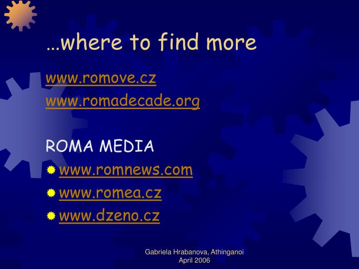…where to find more