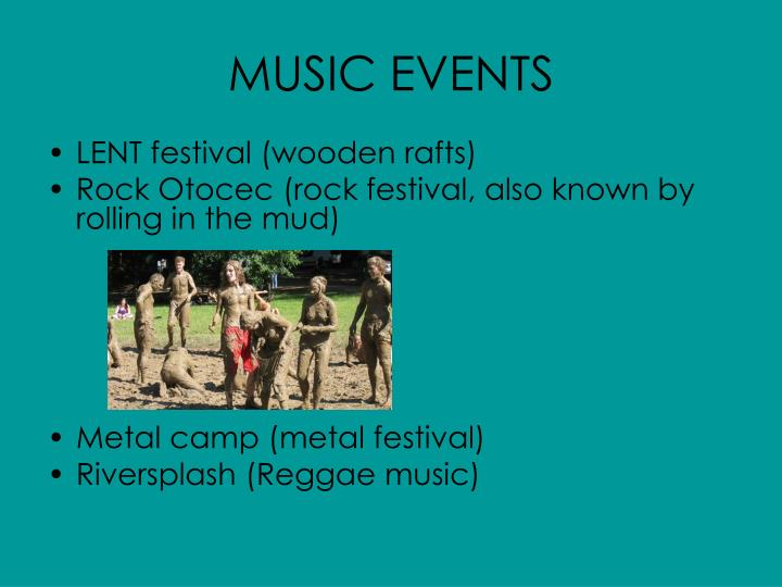 MUSIC EVENTS