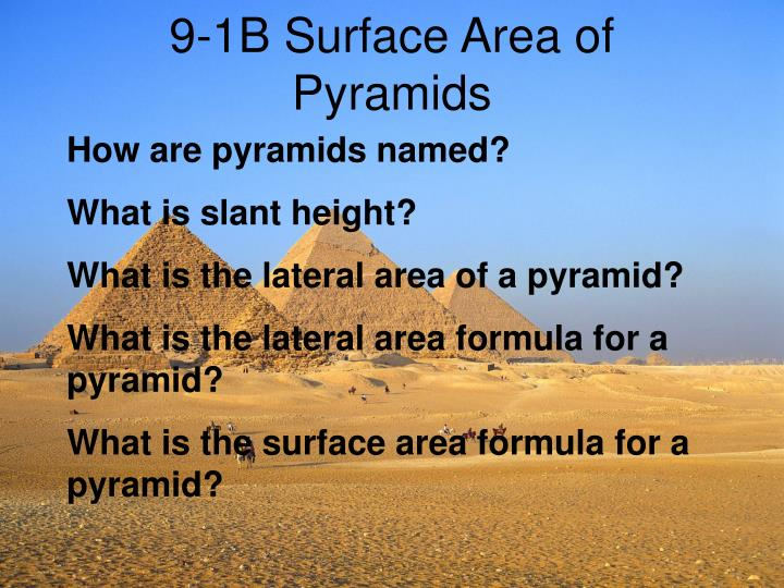 9 1b surface area of pyramids