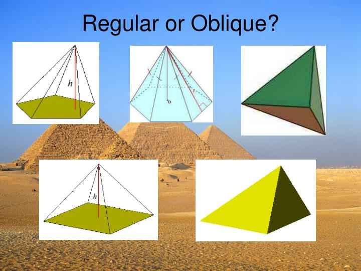Regular or Oblique?