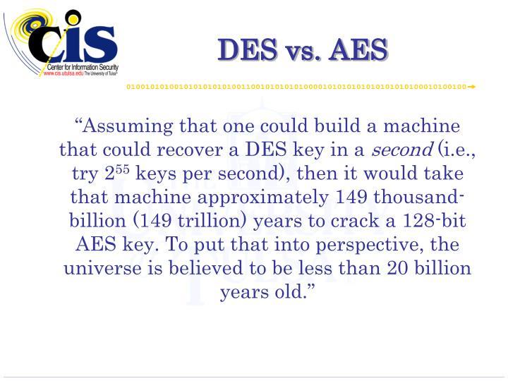 DES vs. AES
