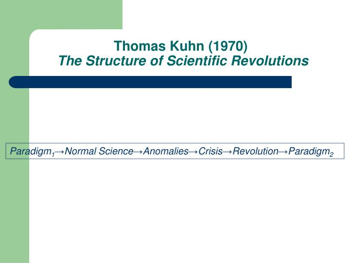 Thomas Kuhn (1970)