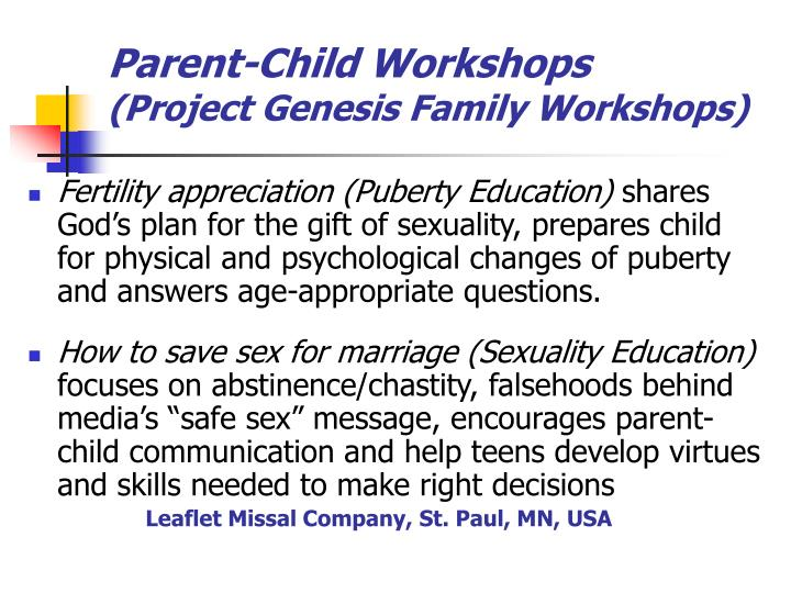 Parent-Child Workshops