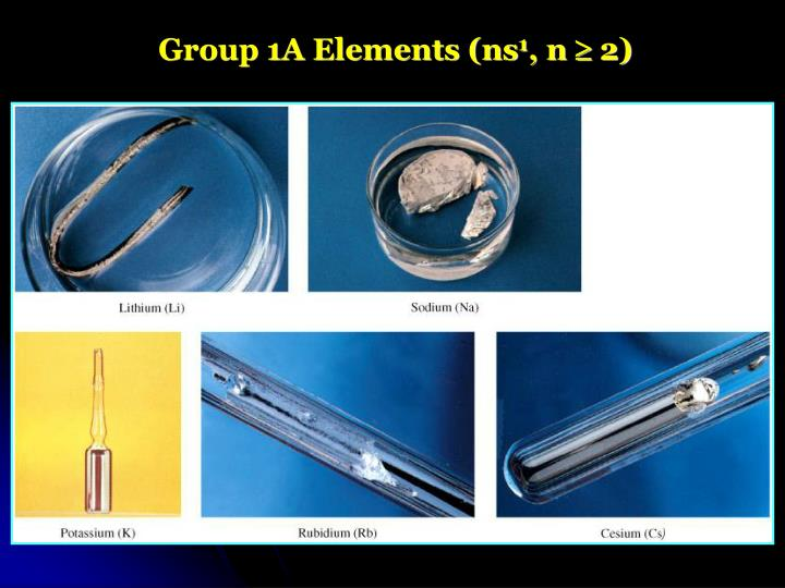 Group 1A Elements (ns