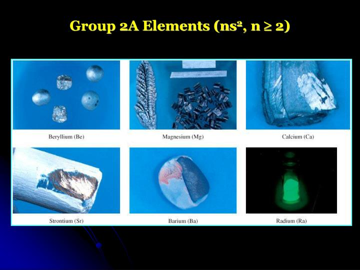 Group 2A Elements (ns
