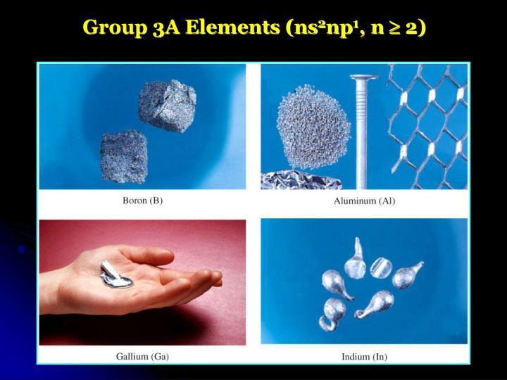 Group 3A Elements (ns