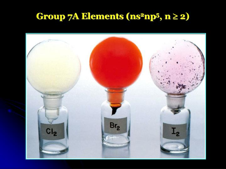 Group 7A Elements (ns