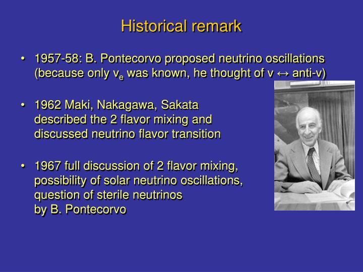 Historical remark