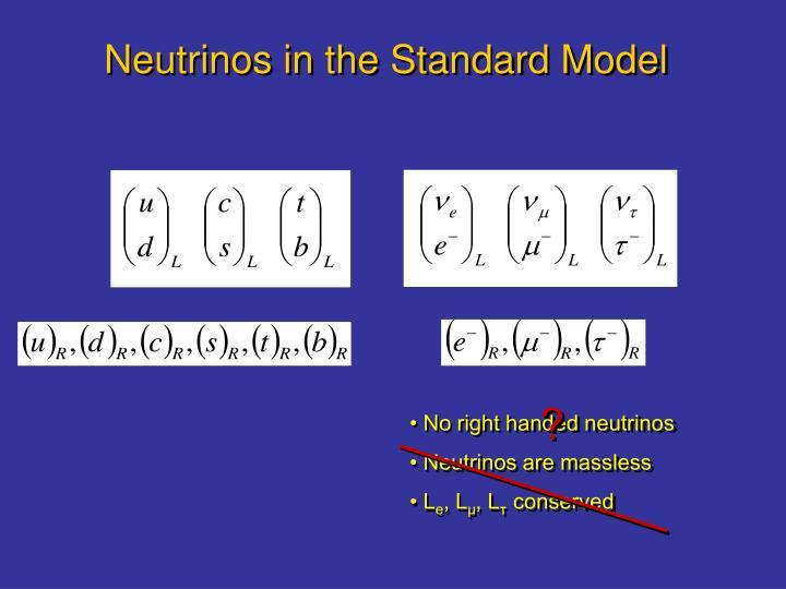Neutrinos in the Standard Model