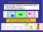 parametrization of neutrino mixing