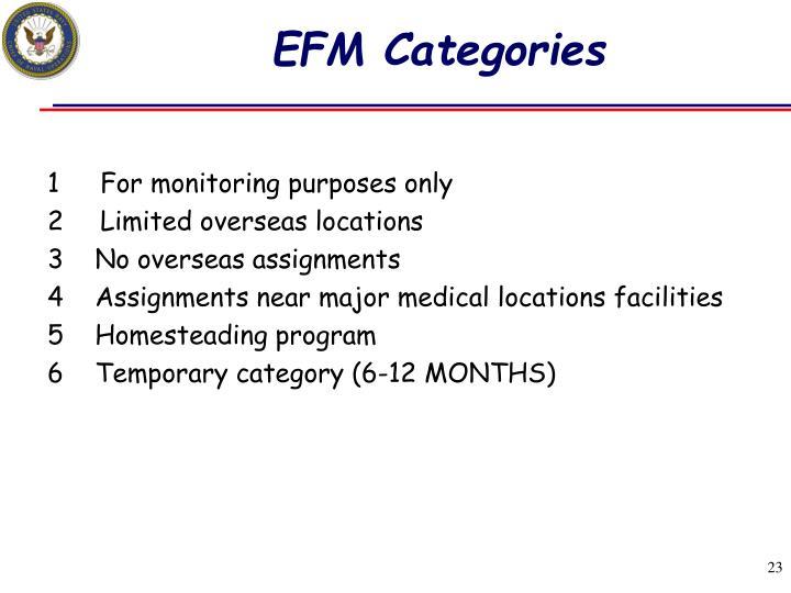 EFM Categories