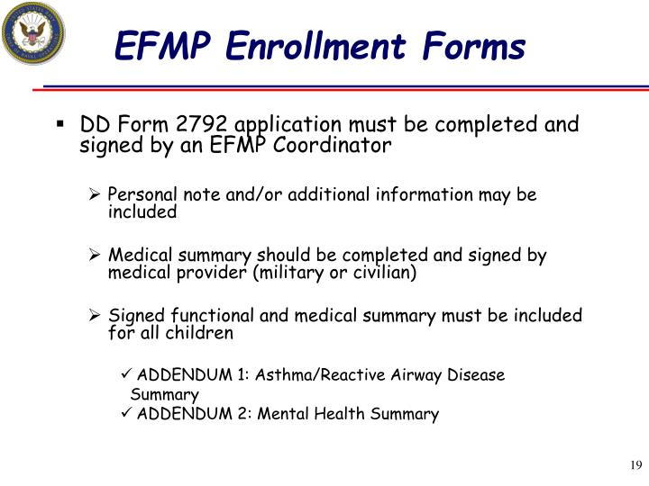 EFMP Enrollment Forms
